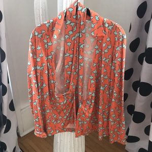 Diane Von Furstenberg DVF 1974 wrap shirt